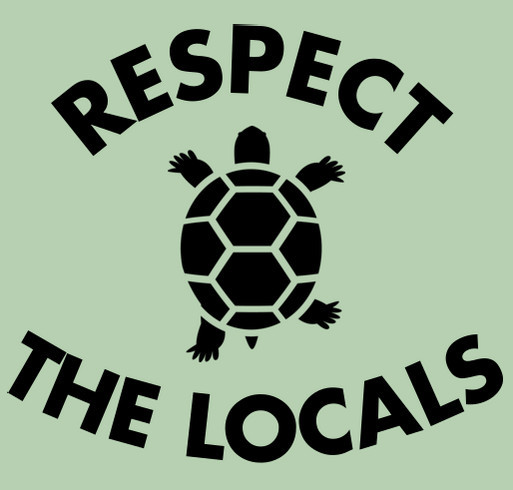 Margate Terrapin Rescue Project: Buy A Shirt, Build a Barrier shirt design - zoomed