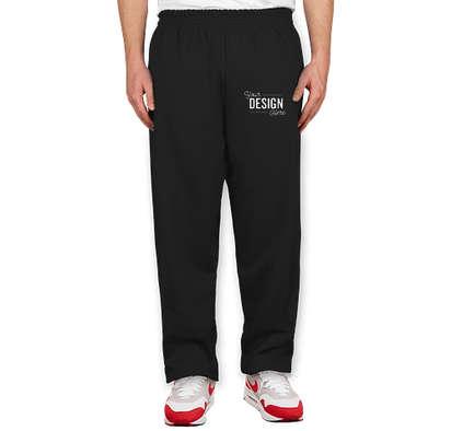 Hanes EcoSmart 50/50 Closed Bottom Sweatpants - Black