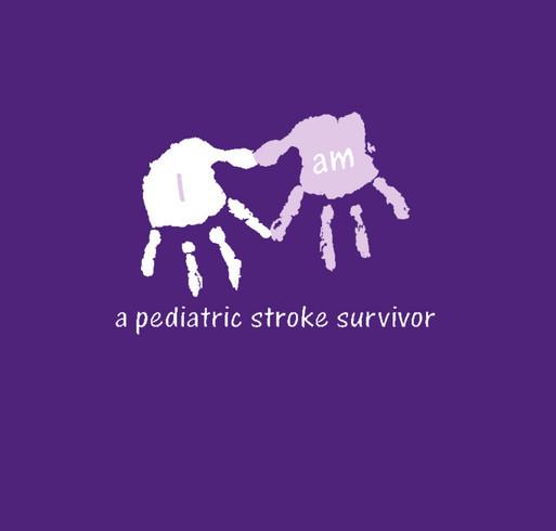I am a stroke surivor - Left Hemi shirt design - zoomed