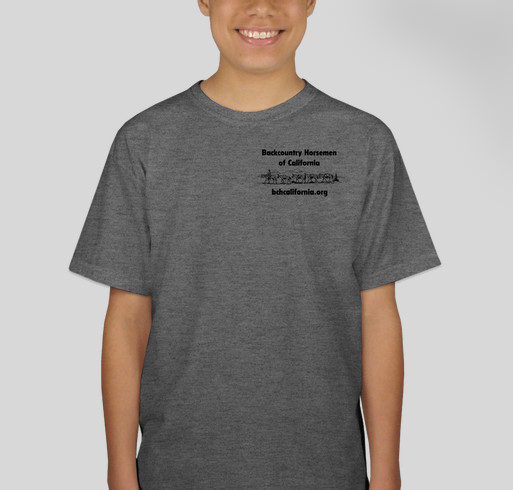 Backcountry Horsemen of California Fundraiser Fundraiser - unisex shirt design - front