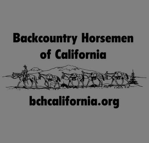 Backcountry Horsemen of California Fundraiser shirt design - zoomed