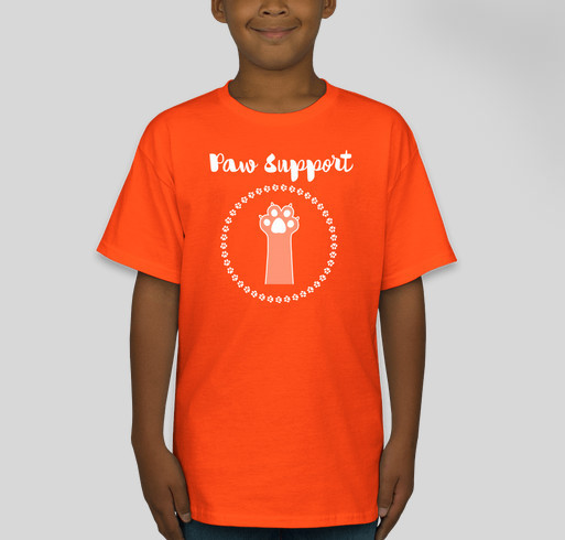 WCHS Paw Support Tees Fundraiser - unisex shirt design - front