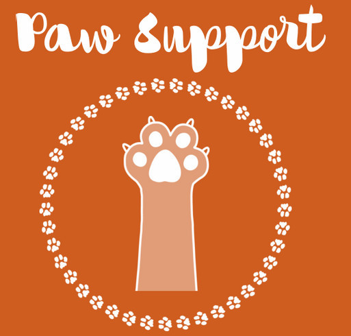WCHS Paw Support Tees shirt design - zoomed