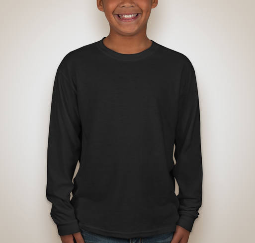 Jerzees Youth 50/50 Long Sleeve T-shirt - Black