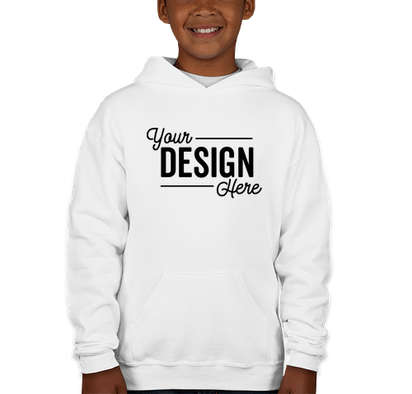 Jerzees Youth Nublend 50/50 Pullover Hoodie - White
