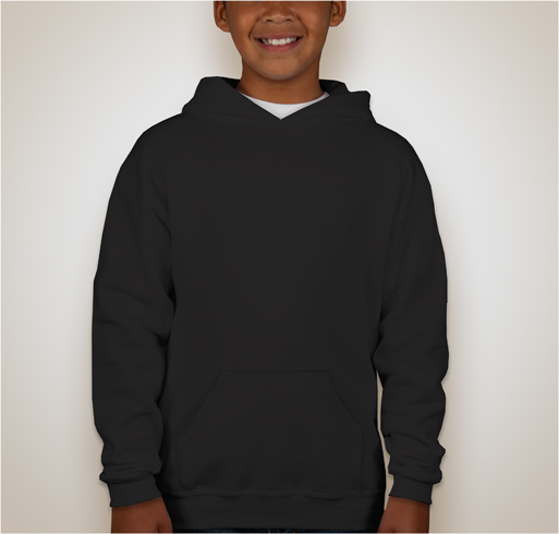 Jerzees Youth Nublend® 50/50 Hooded Sweatshirt - Black