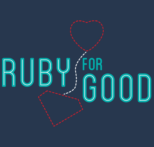 Ruby For Good shirt design - zoomed