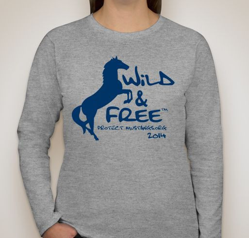 Protect Mustangs - Wild & Free Fundraiser - unisex shirt design - front