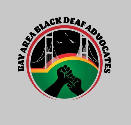 2021 Bay Area Black Deaf Advocates (BABDA) T-shirt Fundraiser shirt design - zoomed