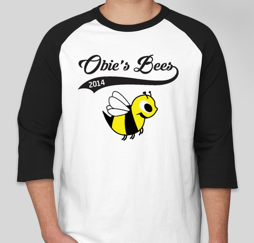 Obie's Bees Fundraiser - unisex shirt design - front