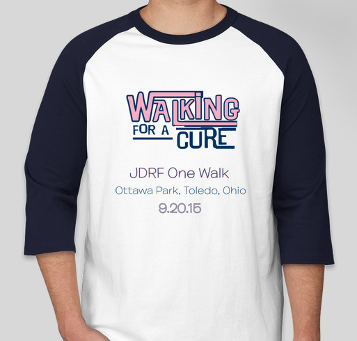 Teamandrea 2015 jdrf one walk custom ink fundraising for Jdrf one walk t shirts