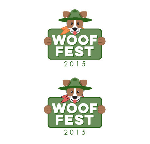 Woof Fest 2015 shirt design - zoomed