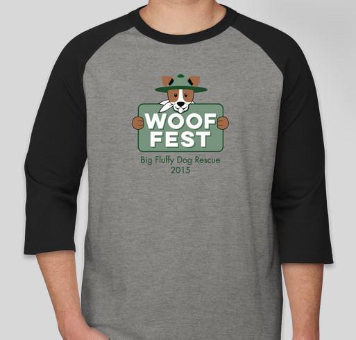 Woof Fest 2015 Fundraiser - unisex shirt design - front