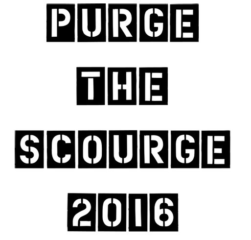 Purge the Scourge shirt design - zoomed