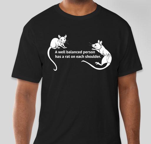 Central Texas Rat Rescue! Fundraiser - unisex shirt design - front