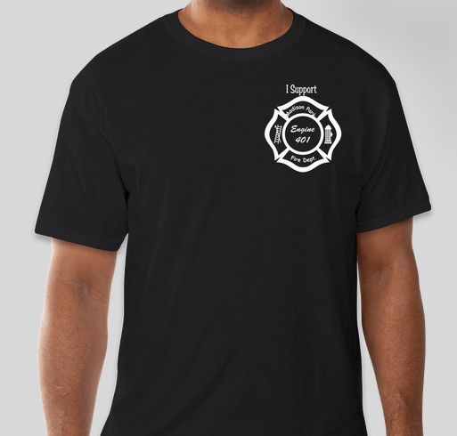 Support Engine 401 Fundraiser - unisex shirt design - front