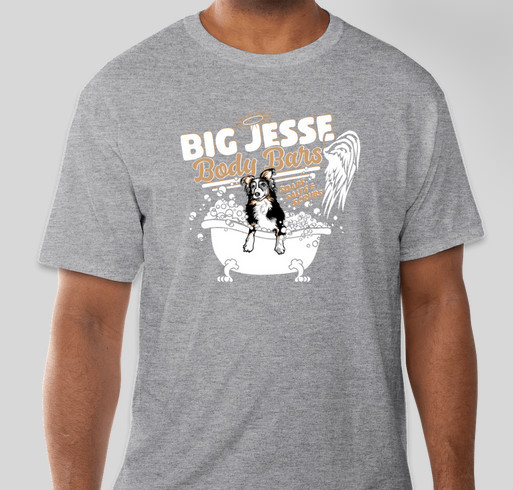Big Jesse Body Bars Fundraiser - unisex shirt design - front