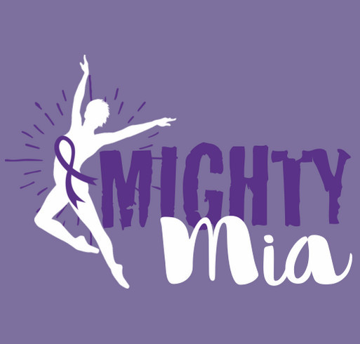 Mighty Mia - Childhood Cancer Awareness shirt design - zoomed