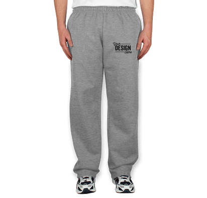 Gildan 50/50 Open Bottom Sweatpants - Sports Grey