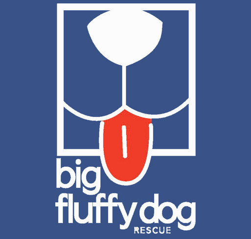 Big Fluffy Dog Rescue shirt design - zoomed