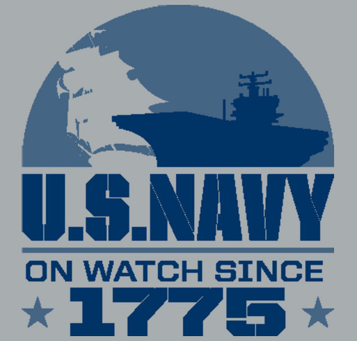 Yellow Ribbon Fund - US Navy shirt design - zoomed