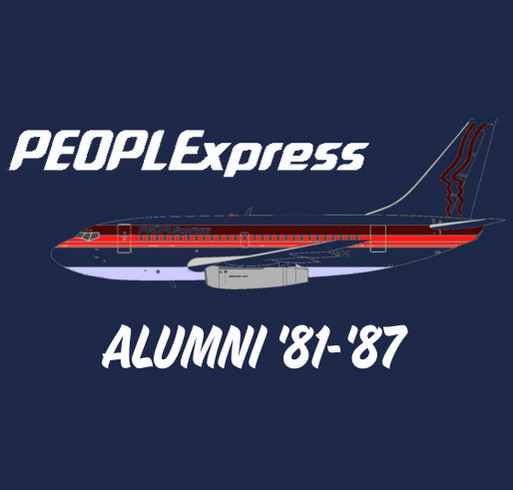 People Express Airlines Alumni Reunion shirt design - zoomed