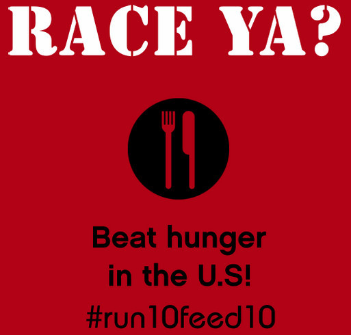 Lauren's #Run10Feed10 Fundraiser to Fight Hunger-Women's Health Take Action shirt design - zoomed