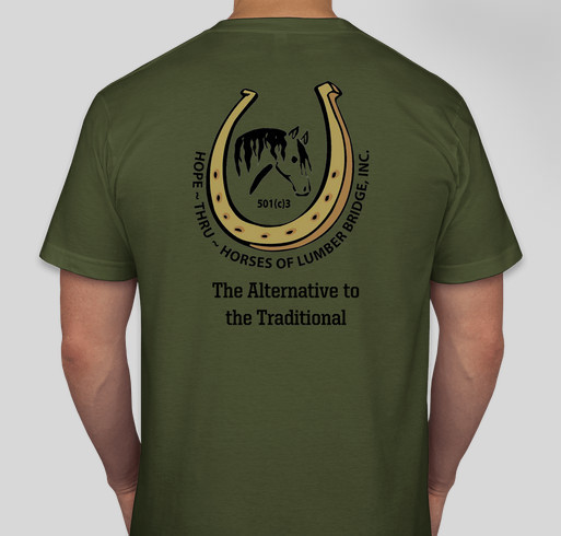 An Alternative to the Traditional Fundraiser - unisex shirt design - back