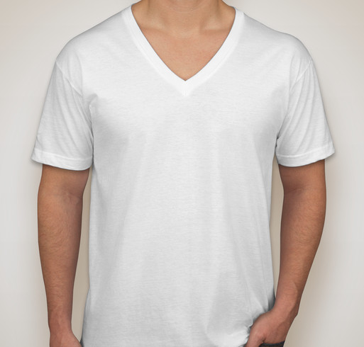 Canada - American Apparel Jersey V-Neck T-shirt - White
