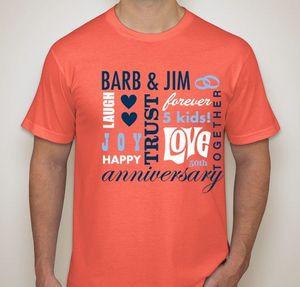d6cf18905 Anniversary T-Shirt Designs - Designs For Custom Anniversary T ...