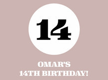 Omar's 14th Birthday