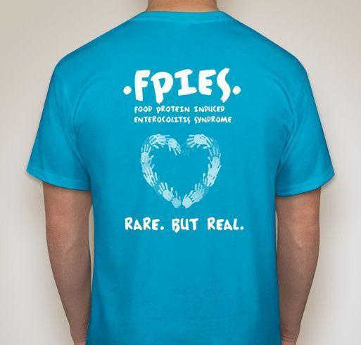 Fpies Awareness Fundraiser - unisex shirt design - back