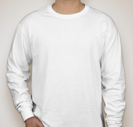 Jerzees Lightweight 100% Cotton Long Sleeve T-shirt - White