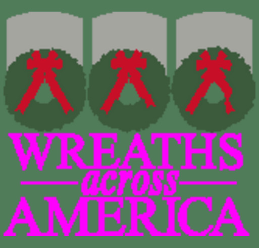 The Wreaths Across America Green Ball Cap With Logo shirt design - zoomed