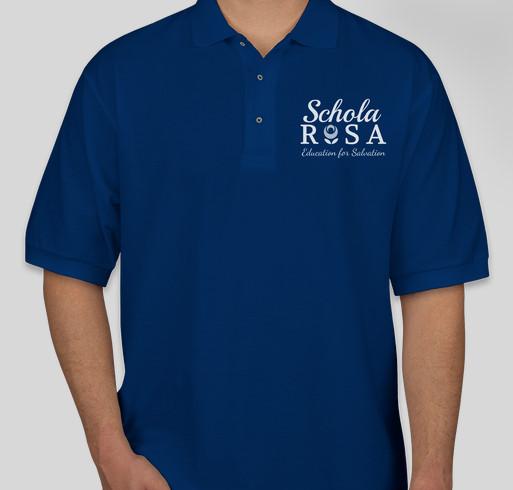 2019-2020 Schola Rosa Polos Fundraiser - unisex shirt design - front