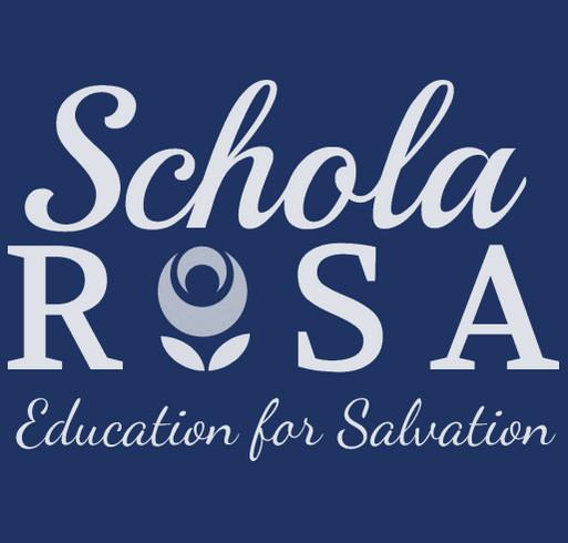 2019-2020 Schola Rosa Polos shirt design - zoomed