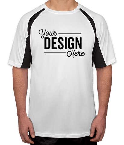 Badger B-Dry Contrast Performance Shirt - White / Black