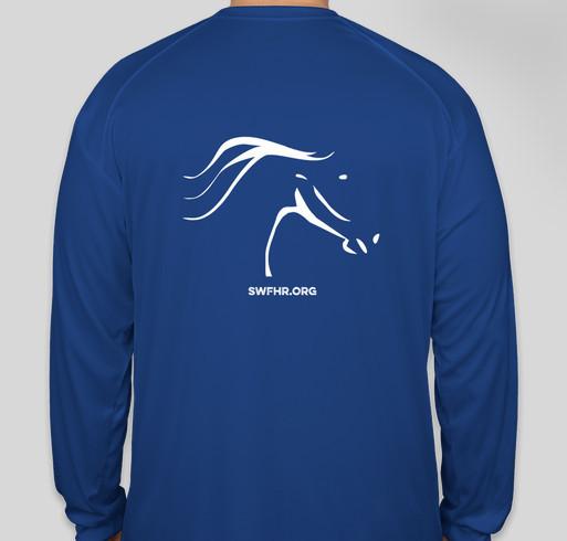 Logo'd performance shirts – SWFHR 005 Fundraiser - unisex shirt design - back