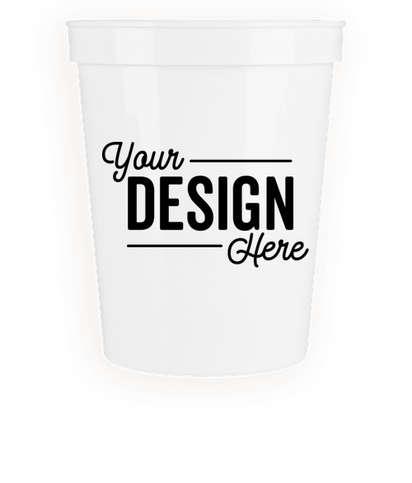 16 oz. Plastic Stadium Cup - White