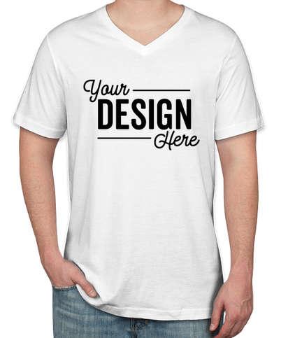 Bella + Canvas Jersey V-Neck T-shirt - White