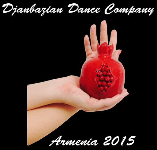 Dance Performance Tour in Armenia 2015 shirt design - zoomed