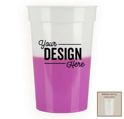 17 oz. Mood Stadium Cup - Frosted / Purple