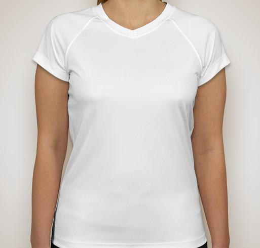 Champion Ladies V-Neck Performance Shirt - White