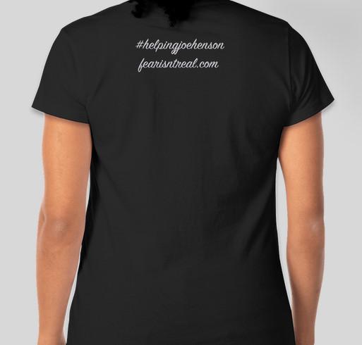 Helping Joe Henson Fundraiser - unisex shirt design - back