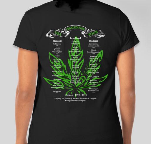 2020 Legalization Tour shirts are here Fundraiser - unisex shirt design - back