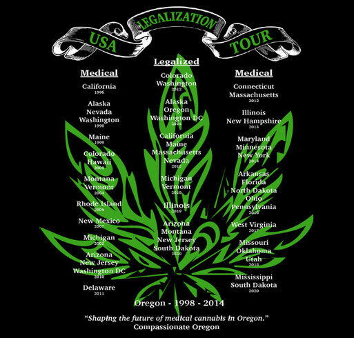 2020 Legalization Tour shirts are here shirt design - zoomed