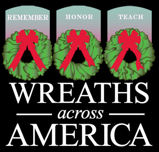 Wreaths Across America - First To Remember In 2015 shirt design - zoomed