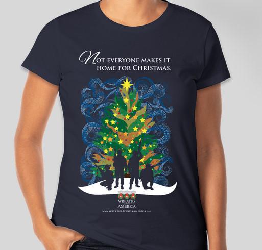 The Wreaths Across America Silent Night Shirt Fundraiser - unisex shirt design - front