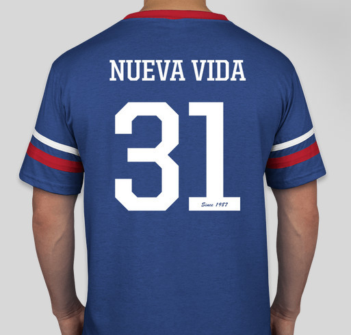Jerseys de Radio Nueva Vida Fundraiser - unisex shirt design - back
