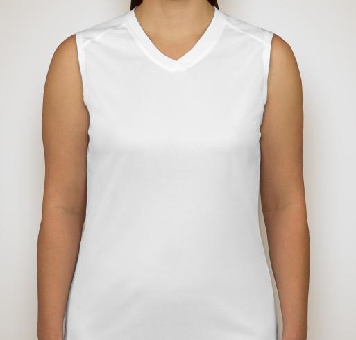 Badger B-Dry Ladies Sleeveless Performance Shirt - White